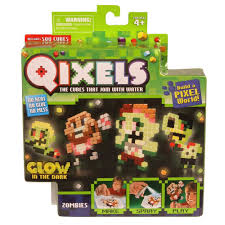 amazon com qixels theme refill pack glow in the dark zombies