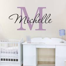 personalized name customized name stickers custom stickers wall decals with names