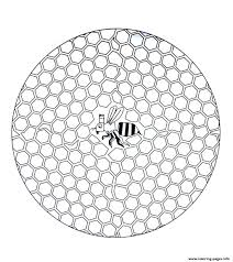 free mandala to color bee in hive coloring pages printable