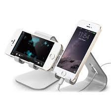 support smartphone bureau bureau universel smartphones elago m2 aluminium argent