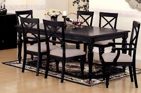 the portland street two tone dining table with black dining room