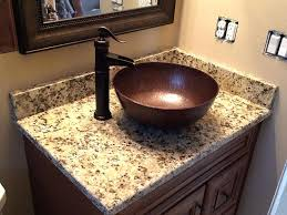 single sink vanity top vessel sink vanity top clever copper vessel sink with g vanity