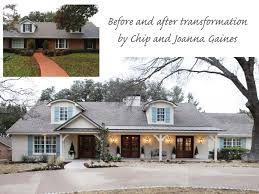 exterior transformation by chip and joanna gaines of magnolia home