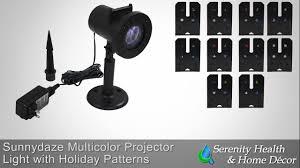 sunnydaze multi color led projector lights sg 948 youtube