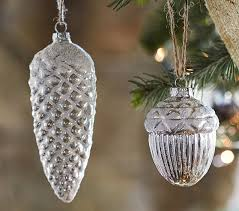 mercury glass ornament set pottery barn
