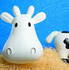 amazon com trumpette howdy cow kids inflatable bouncy rubber