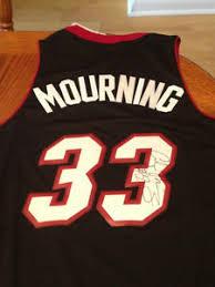 alonzo mourning signed miami heat jersey ebay