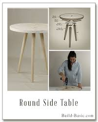 Wood Plans For Bedside Table by Build A Round Side Table Building Plans And Instructions By