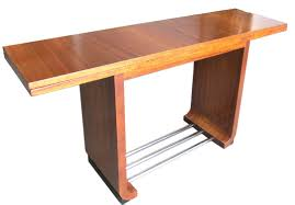 Console Dining Table by Gilbert Rohde American Art Deco Console East Indian Laurel Modernism