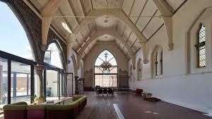 Church House Melbourne Church Conversion Conceals Concrete Lap Pool