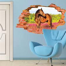 aliexpress com buy removable vinyl 3d broken horse animal wall