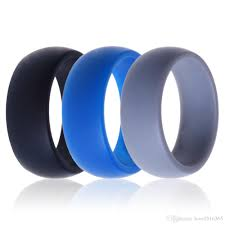 rubber wedding band men women silicone wedding ring black grey blue band rubber ring