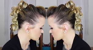 Messy Formal Hairstyles by Messy Bun Mohawk Edgy Updo Youtube
