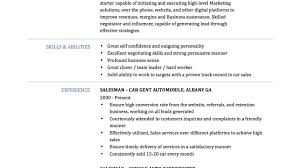 salesman resume magnificent car resume sle pictures inspiration resume ideas
