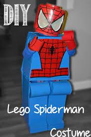 Lego Brick Halloween Costume Diy Lego Spiderman Costume Honeysuckle Footprints