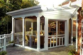 Garage With Screened Porch Barn Door Designs Exterior Screened Porch Ideas Porch Traditional