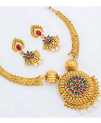 gold necklace set jewellery images Buy good looking golden necklace set aprn1125 at 42 47 jpeg