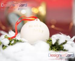 xmas ceramic personalised baubles the designer card company