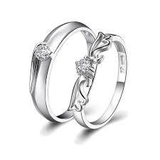 couples wedding rings buy eternity wings silver plate promise