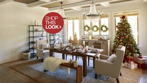 Christmas Centerpieces For The Dining Table by Country Chic Christmas Decorating Ideas For The Home Overstock Com