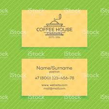 business card of coffee house with coffee machine vector design