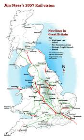 Eurostar Route Map by National Rail Atoc Maps