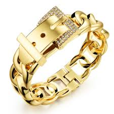 buckle bracelet gold images Luxury jewelry girl gold bracelet crystal charm fashion jewellery jpg