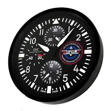 dealer display wall clock based on the evergreen iwc top gun