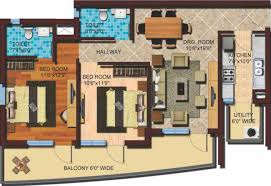 floor plan express 1310 sq ft 2 bhk 2t apartment for sale in cosmos infra engineering