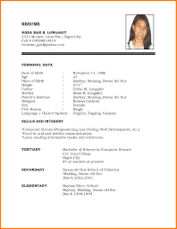 Free Pdf Resume Template 4 Years Experience Resume Format Free Resume Example And Writing