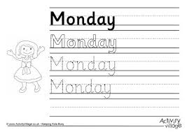 ideas of days of the week spelling worksheets with proposal