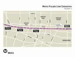 Metro Gold Line Extension Map by Purple Line Extension Project Details