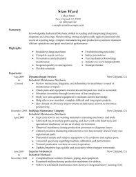 Example Summary Resume by Diesel Mechanic Resume Haadyaooverbayresort Com