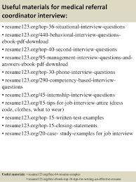Medical Front Desk Resume Sample Sample Resume Medical Referral Coordinator