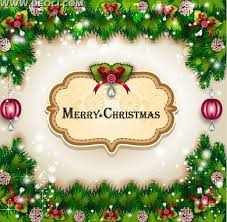 2014 merry christmas greeting card vector template background