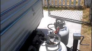 how to start up the propane refrigerator on a trailer youtube