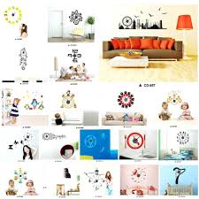 wall clocks wall clock decal kit wall sticker clock kitchen wall