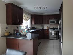 painting dark cabinets white before after a dark and tired kitchen gets a bright update