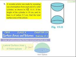 ncert solutions for class 10th maths chapter 13 surface areas and