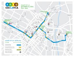 Metro La Map Coasting Through The Heart Of L A With Ciclavia On Oct 16 The