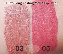 Lipstik Lt Pro Lip potted pinkyrose review lt pro lasting matte lip no 3 dan 5