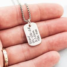 Personalized Dog Tag Necklaces Personalized Dog Tag Necklace With Baby Birth Info By Green River