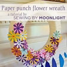 How To Make A Spring Wreath by Sewing By Moonlight April Showers Bring May Flowers