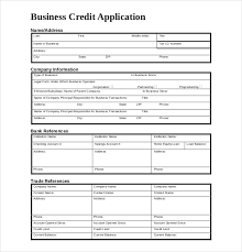 applications template credit applications templates pacq co
