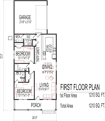 Garage Floor Plans Free Small Low Cost Economical 2 Bedroom Bath 1200 Sq Ft Single Story 1
