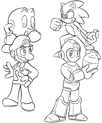 smash bros group lineart by gamefreakdx on deviantart