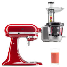 l essentiel de la cuisine par kitchenaid amazon com kitchenaid ksm1ja masticating juicer and sauce