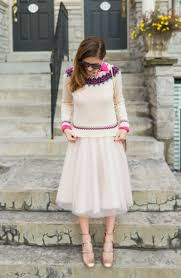 wearing a pink tulle skirt to a holiday party pink tulle skirt