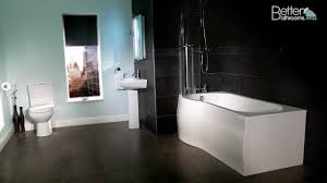 dee and p shaped bath suite youtube