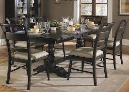 Black Wooden Dining Table And Chairs 7 Piece Dining Set Dark Wood Tags Fabulous 7 Piece Dining Room